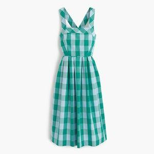 JCrew Gingham Crisscross Dress